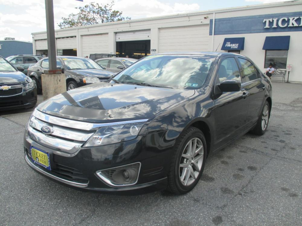 2011 BLACK Ford Fusion I4 SEL (3FAHP0JA2BR) with an 2.5L L4 DOHC 16V engine, located at 1254 Manheim Pike, Lancaster, PA, 17601, (717) 393-9133, 40.062870, -76.323273 - Photo #0
